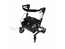 Andador com Rodas e Assento Freedom Walker Pequeno Preto